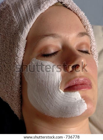Zen Facial - stock photo