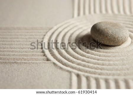 Zen garden - stock photo