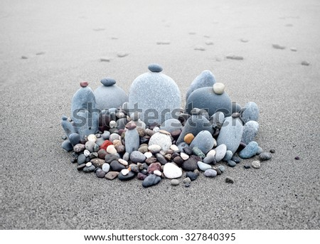 Zen garden concept background for relaxation and meditation. Peaceful and serene photography - stock photo