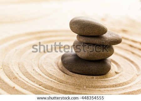 zen garden meditation stone background