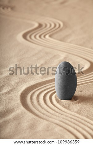 zen garden symplicity and harmony form a background for meditation and relaxation, for balance and health - stock photo