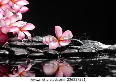 Zen pebbles. and spa concept. - stock photo