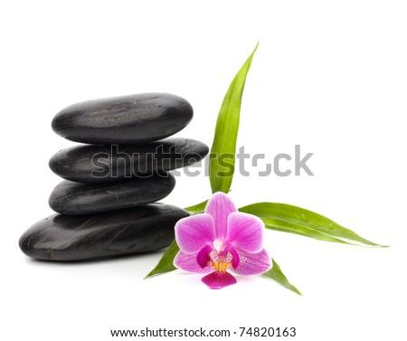 Zen pebbles balance. Spa concept. - stock photo