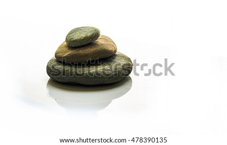 Zen pebbles stacked
