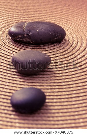 zen pile of stone, balance and meditation concepts