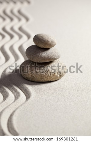 zen silence in sand and pebbles
