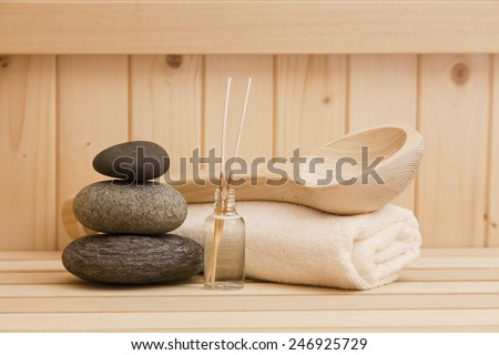 zen stones and spa and accessories - stock photo