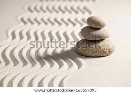 zen wisdom from yoga exercise - stock photo