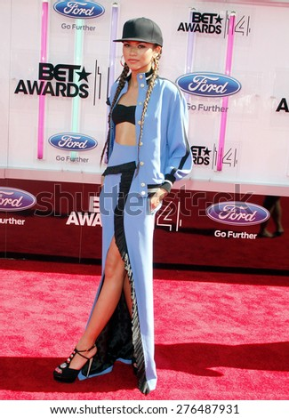 Zendaya at the 2014 BET Awards held at the Nokia Theatre L.A. Live in Los Angeles, United States, 290614.  - stock photo