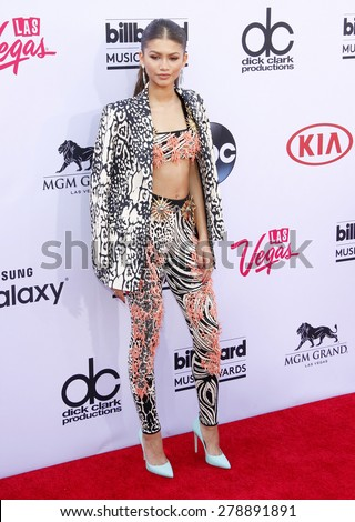 Zendaya Coleman at the 2015 Billboard Music Awards held at the MGM Garden Arena in Las Vegas, USA on May 17, 2015.  - stock photo