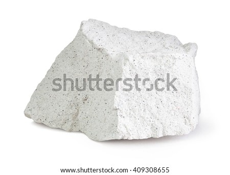 Zeolite isolated on a white background with clipping path