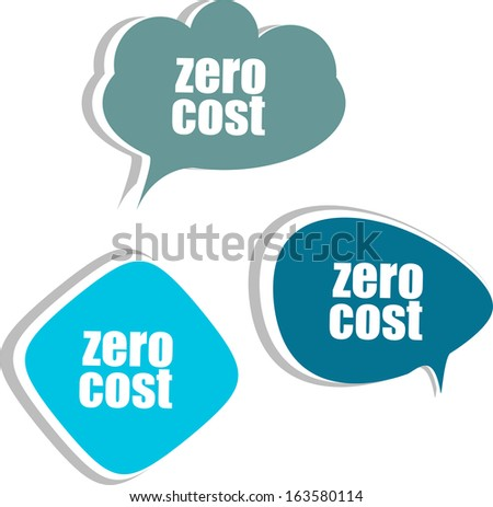Zero cost set of stickers labels tags business banners template for