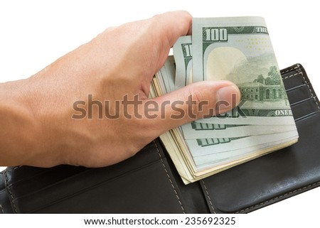 zero out from wallet, isolated - stock photo