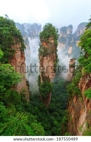 Zhangjiajie - China Hunan Province - stock photo