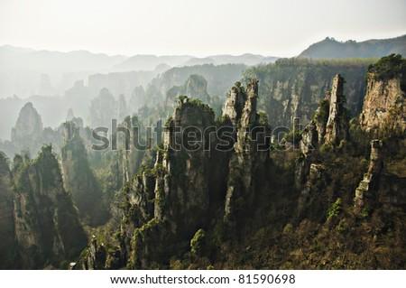 Zhangjiajie natinal park, china - stock photo