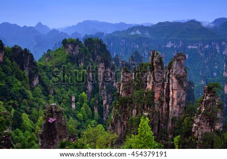 Zhangjiajie National Forest Park (Avatar mountains) in the Wulingyuan Scenic Area, Hunan Province, China