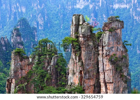 Zhangjiajie National Forest Park in the Wulingyuan Scenic Area, Hunan Province, China