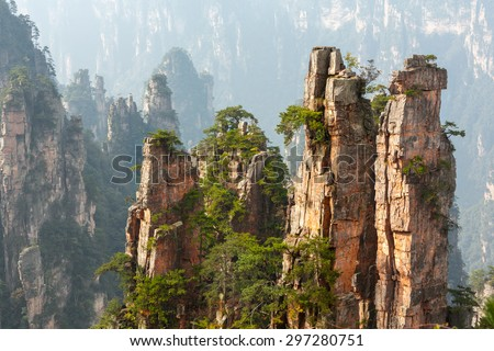 Zhangjiajie National Park, China. - stock photo