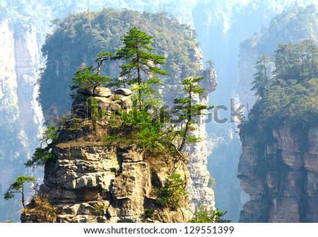 Zhangjiajie National Park, China. Avatar mountains - stock photo