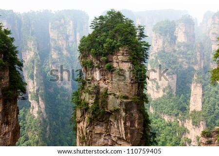 Zhangjiajie National Park in Hunan, China - stock photo