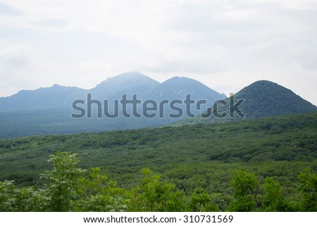 ZHELEZNOVODSK, RUSSIA - JULY, 03, 2015: views of mount Beshtau and Iron