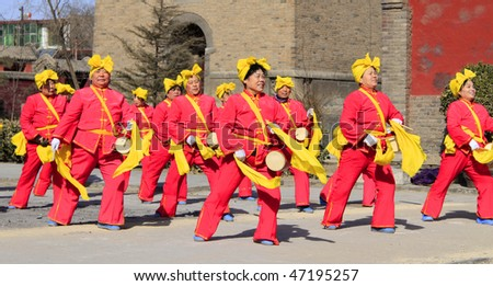 "ZHENGDING - FEBRUARY 16: The annual ""temple fair"" for celebrating traditional Chinese New Year(spring festival) February 16, 2010 in Zhengding city, Hebei province, China."
