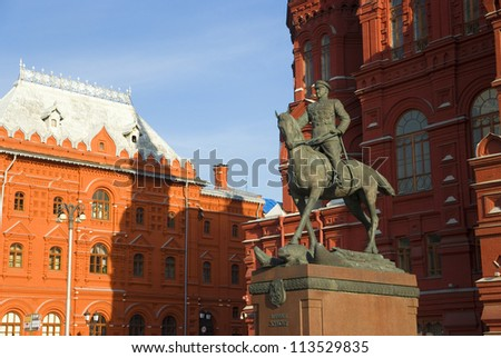 Zhukov monument on Red Square in Moscow