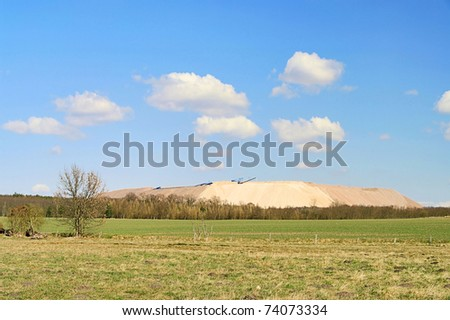 Zielitz potash salt dump - stock photo