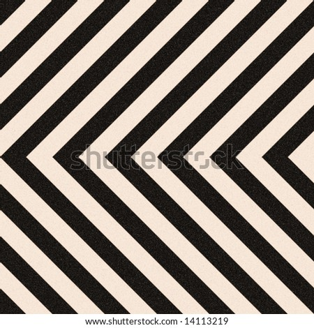 Zig zag hazard stripes texture that is weathered, worn and grunge-looking.  Tiles seamlessly as a pattern in any direction. - stock photo