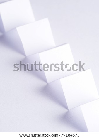 zig zag paper with shadows - stock photo