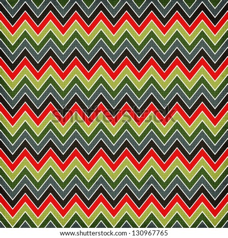 Zigzag geometric seamless pattern - stock photo