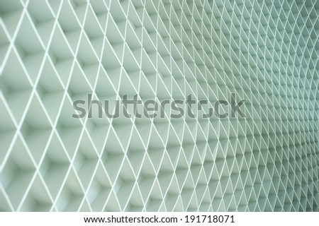 Zigzag line on the wall - stock photo