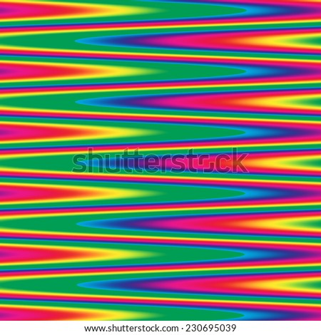 Zigzag pattern in bright rainbow colors - stock photo