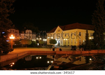 zilina in the night - stock photo