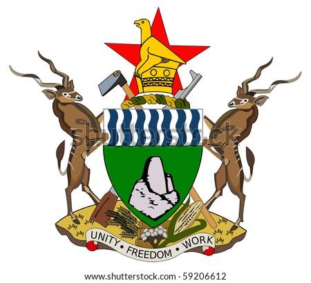 ... seal or national emblem, isolated on white background. - stock photo