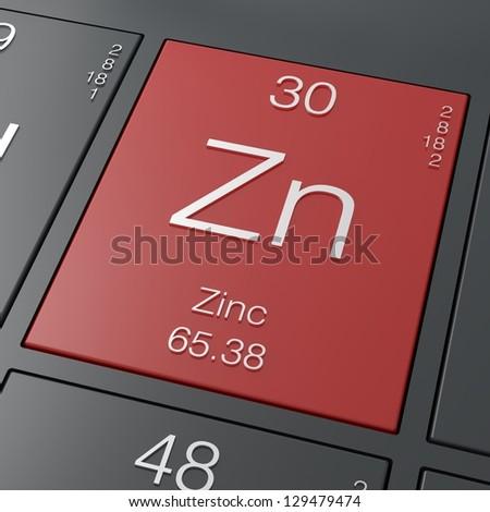 Zinc Element Periodic Table Stock Illustration 129479474 - Shutterstock