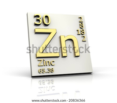 Zinc form Periodic Table of Elements - stock photo