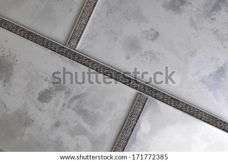 Zinc metal plate divided into boxes - stock photo