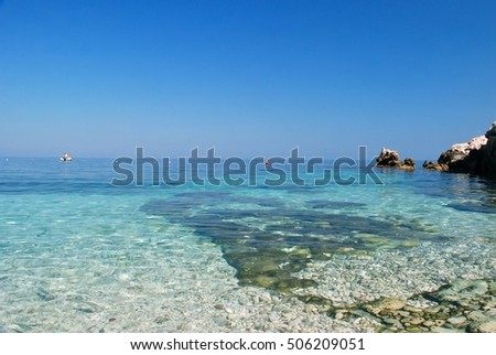 Zingaro National Reserve - a view of a bay with azzure water, Sicily, Italy