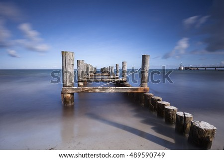Zingst Pier on the baltic sea, germany