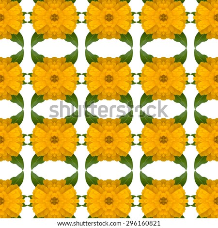 Zinnias flower seamless pattern background