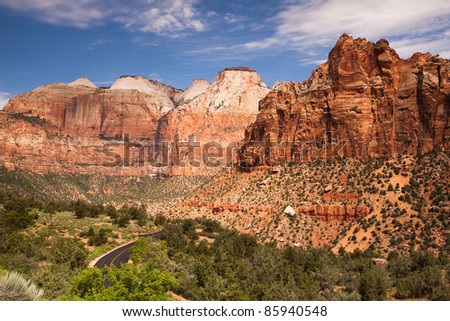 Zion Canyon National Park, Utah - stock photo