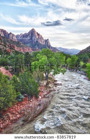 Zion Canyon National Park, Utah, USA - stock photo