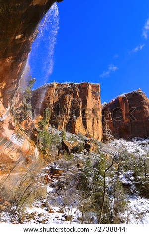 Zion National Park - Emerald Pools Trail (Utah, USA) - stock photo
