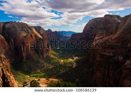 Zion National Park in Utah , USA - stock photo