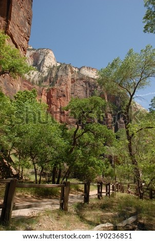 Zion National Park in Utah, USA - stock photo