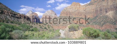 Zion National Park, Spring, Southern Utah - stock photo