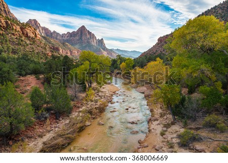 Zion National Park, USA - stock photo