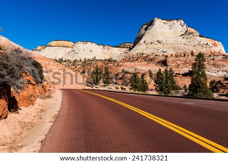 Zion National Park, Utah, USA - stock photo