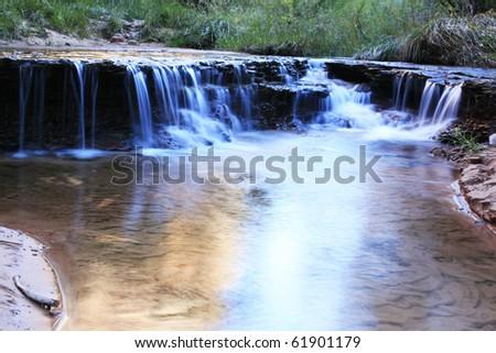 Zion subway waterfalls - stock photo
